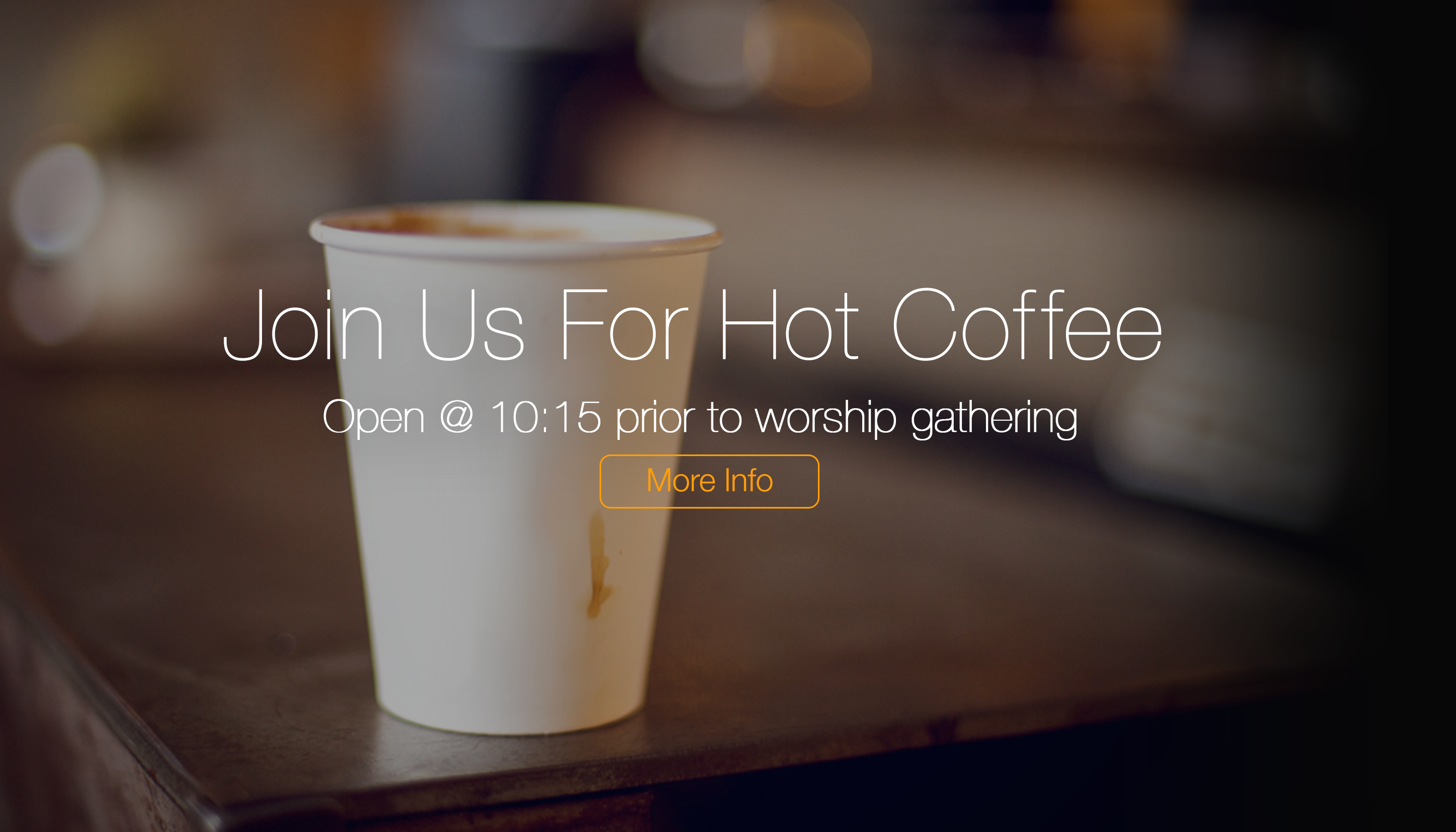 The Life Church Lisle - Join us early for coffee
